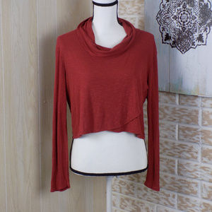 Charlotte Russe Cowl Neck Cropped Top